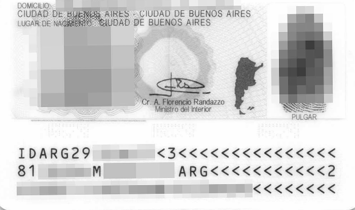 dni argentina frontal placeholder