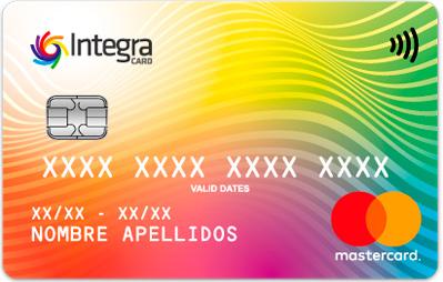 Tarjeta integra card Integracard frontal
